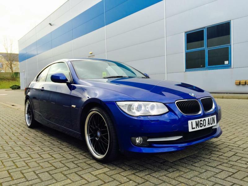 2010 60 reg bmw 320d se coupe blue black leather. Black Bedroom Furniture Sets. Home Design Ideas