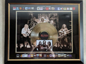 Rush Framed Album Collection Collage with Gold Record Album