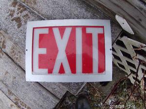 exit sign in aluminium frame