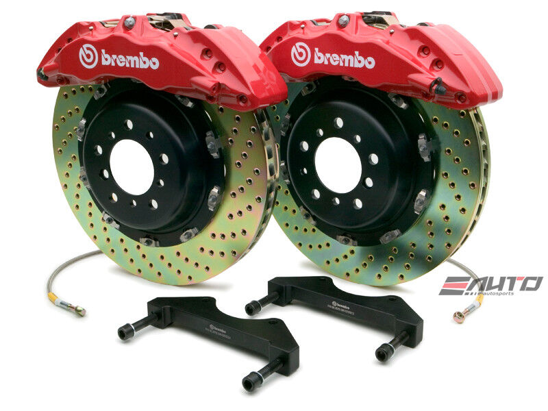 Brembo Front Gt Brake 6piston Red 380x34 Drill Disc Ram 1500 04-08