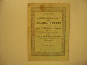 Archconfraternity Guard Of Honour Sacred Heart Of Jesus Cir 1888
