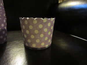 Purple Paper Cups - Great for Birthday Parties or Baking