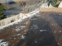 Emergency roof ice dam and snow removal