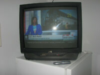 "27"" JVC TELEVISION + NEW REMOTE"