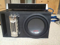 Alpine type R Subwoofer with amp and cap