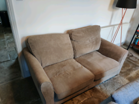 2 seater grey sofa - collection only