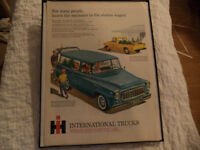 OLD INTERNATIONAL HARVESTER CLASSIC CAR ADS