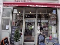Part-time Café assistant / Barista for 13h/pw (+/- hours optional). Some knowledge required.
