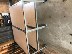 Three free heavy duty tables