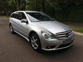 2007 MERCEDES R320 CDi LWB 4 MATIC SPECIAL EDITION 5 DOORS 7 SEATER SILVER AUTO