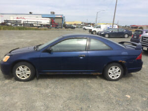 Honda Civic 2003 2 porte bleu 600$