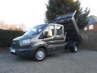 Ford Transit 350 L3 Crew Cab Bison Tipper Magnetic Grey CAB AIR CON
