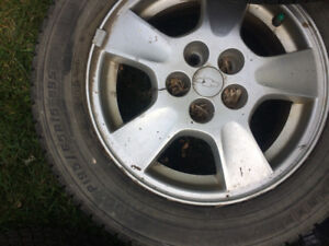 Set of Four Tires with Rims!!- 19565R15- Cheap!!