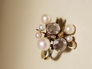 Diamond & Pearl Dinner Ring c/w appraisal