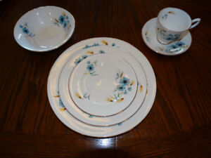 Royal Albert China Cornflower Made in England Set for 4
