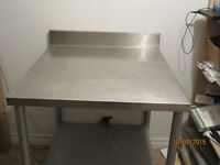 stainless kitchen tables