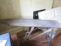 ANTIQUE WOODEN IRONING BOARD-VERY OLD-CIRCA 1930s/1940s