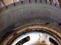 """Michelin tyres on 5 stud 16"""" rims"""