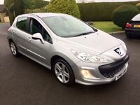 PEUGEOT 308 1.6 HDI DIESEL, 2010, ONLY 52K FSH, EXCELLENT MPG **FINANCE THIS FROM £27 PER WEEK**
