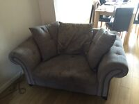 DFS 4 seater sofa and love chair