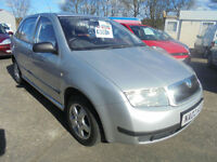 2002 Skoda Fabia 1.4 Ltd Edn Silverline LONG MOT LOW MILEAGE