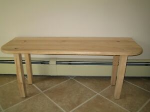 Solid Maple Bench or Low Table