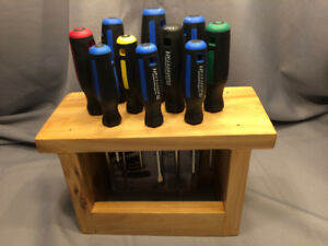 Mastercraft 10 piece screwdriver set in custom cedar caddie