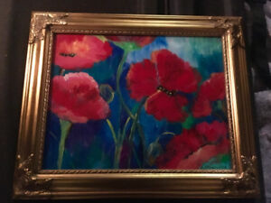 Poppies painting by Lorinda Antonello