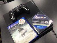 Sony PlayStation 4 500GB Carbon Fibre 2 Games