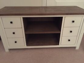 White Painted TV Unit with Drawers