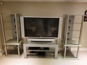3 PC TV Entertainment stand with stand and two end pieces