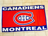 """MONTREAL CANADIENS FLAG 60"""" by 33"""" NEW"""