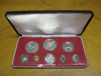 1972 Cayman Islands Mint 8 Coin Set in Case 3 ounces of silver