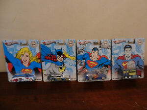 Hot Wheels DC Comics Originals Superman,Batgirl Etc Lot