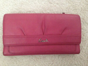 Authentic coach long pink wallet