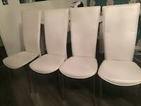White dining chairs 4. Plus 1 free
