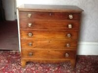 Early Victorian writing bureau/chest of draws