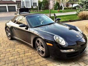 29,957km: Porsche Convertible noir 911 Carrera S (2 door) 2007