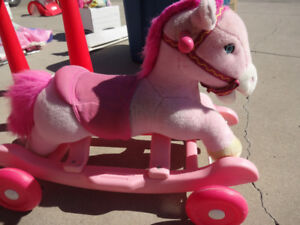 Pink ride on/rocking horse