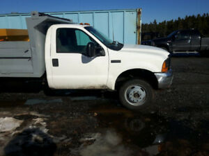 2001 f550 4x4 truck with plow and salter $15,500.00
