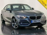 2016 66 BMW 218I SPORT PETROL COUPE SAT NAV PARKING SENSORS CLIMATE CONTROL