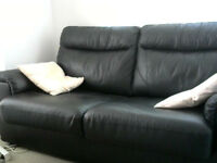 Black Leather Sofabed For Sale