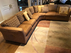 Sectional Couch & Area Rug