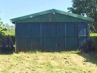 Metal garage / shed 7x7m