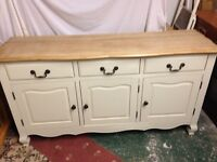 Solid oak French style sideboard