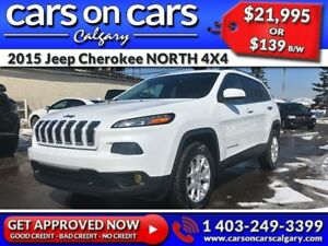2015 Jeep Cherokee NORTH 4X4 w/Heated Seats, Terrain Select, Hea