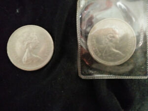 Two Canadian One Dollar Coins