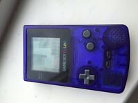Gameboy colour in clear sapphire blue