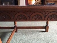 """""""Old Charm"""" solid Oak coffee table bar set"""