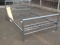 """Metal framed double bed (4ft 6"""") All fixings present No mattress LOCAL delivery available"""